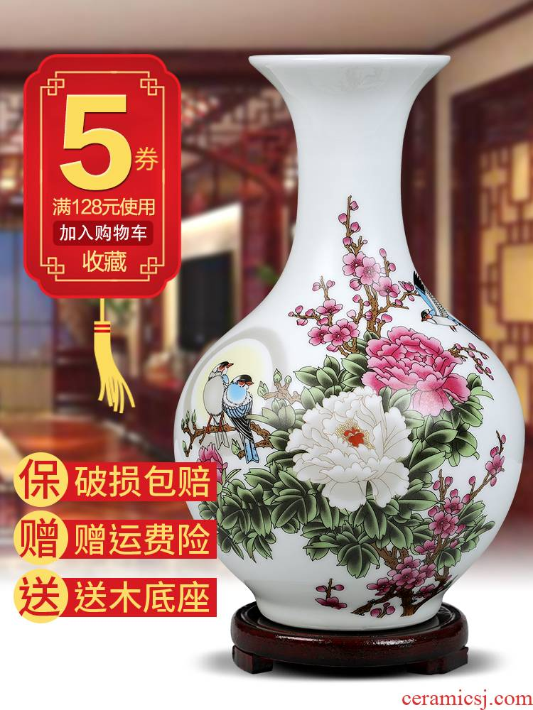 Jingdezhen ceramic floret bottle of flower arranging machine of Chinese style home sitting room adornment is placed dried flower crafts TV ark