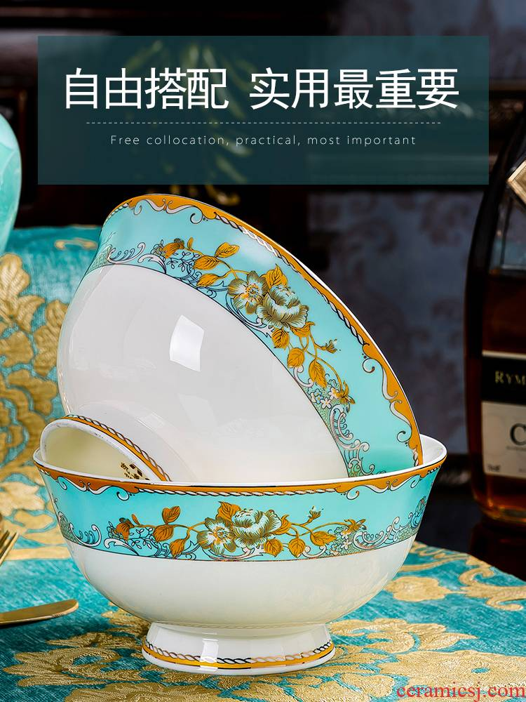 Creative DIY jingdezhen chinaware plate bowl dish dish dish of rice bowls of household rainbow such use ipads porcelain tableware item