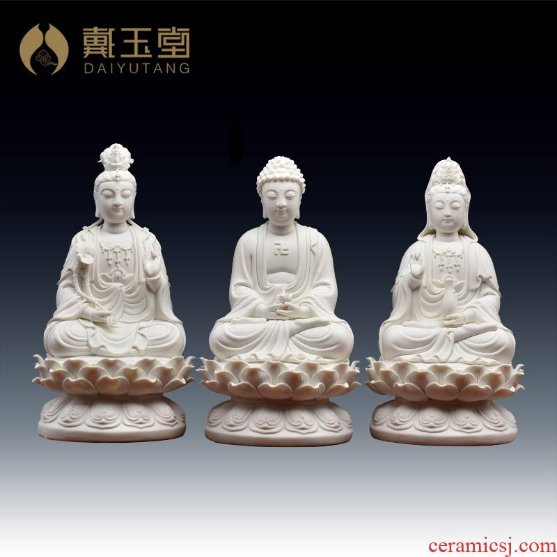 Yutang dai western three holy gods holy Buddha home furnishing articles 11 inches white porcelain art ceramics