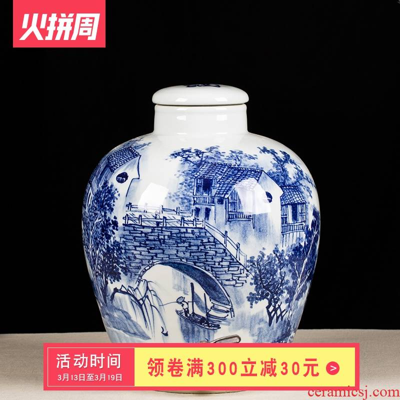 It sealed ceramic wine jar 10 jins 20 jins 50 kg hip medicated wine mercifully whose bottle