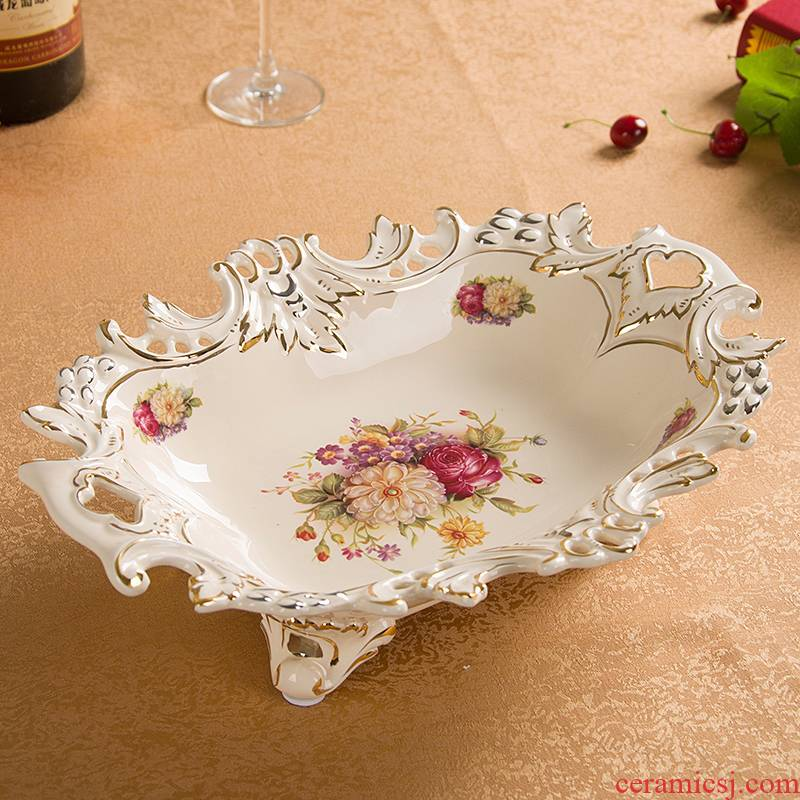 European fruit bowl creative I sitting room tea table household compote ceramic handicraft furnishing articles new room decoration