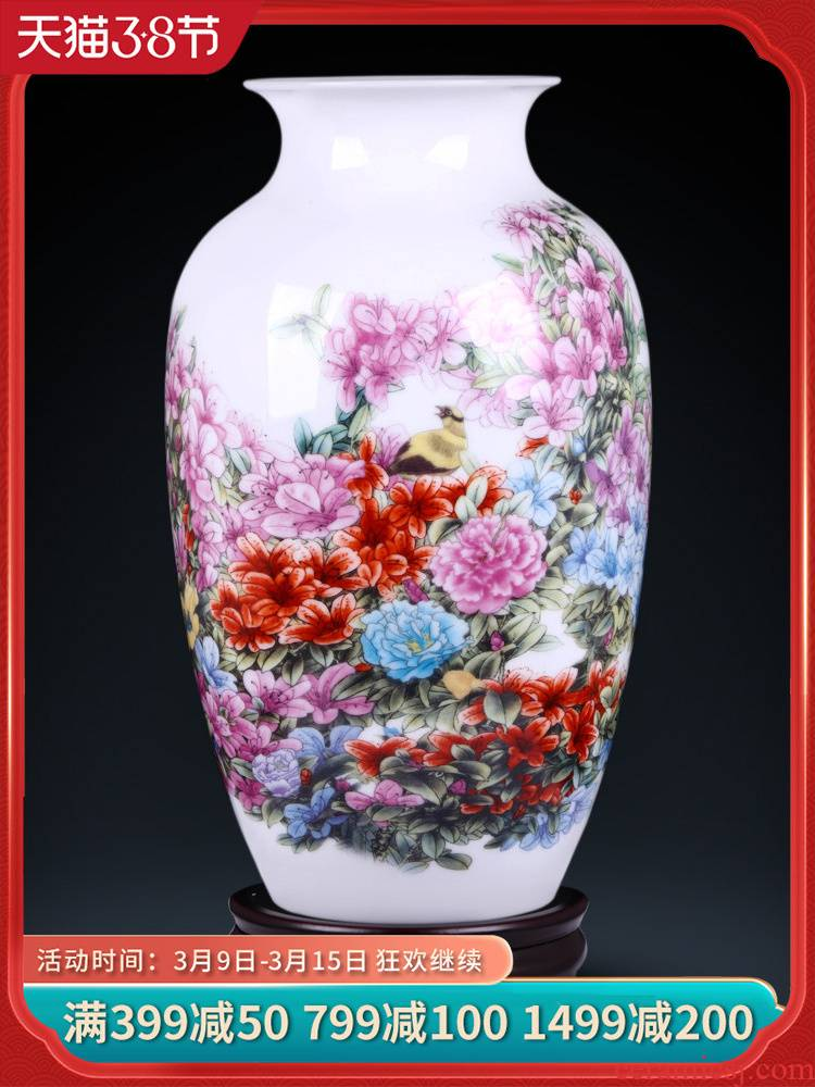 Jingdezhen ceramics new Chinese style household furnishing articles famous TV ark, cuckoo winter jasmine flower arrangement sitting room adornment