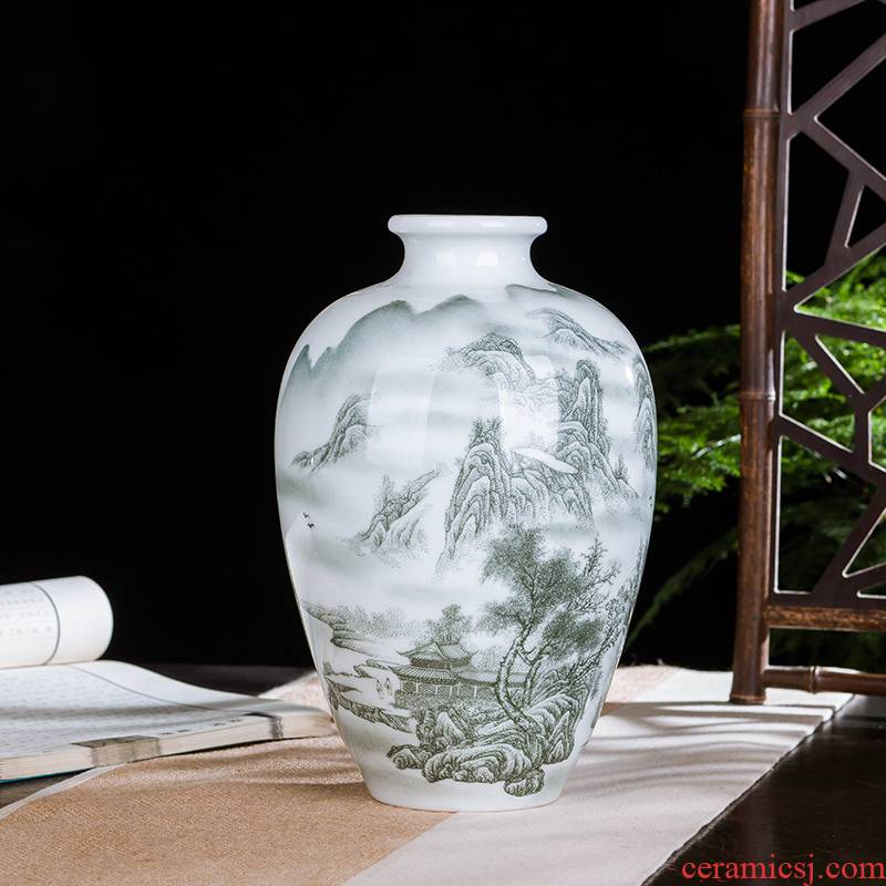 Jingdezhen ceramics high white porcelain of famille rose porcelain vase MAO home sitting room place wine decorations arts and crafts