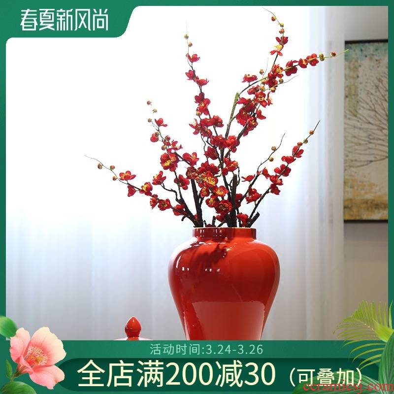 Jingdezhen general pot of new Chinese style flower vase decoration flower implement mesa porch place candy jar caddy fixings