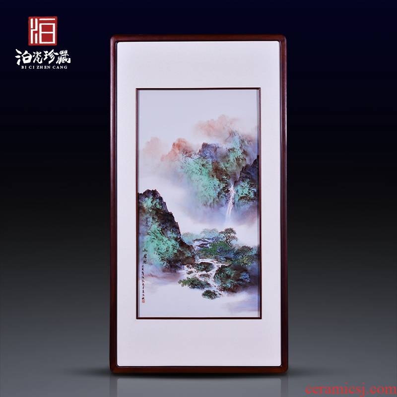 Jingdezhen ceramic hand - made scenery pastel background household adornment wall sitting room wall painting study restaurant wall paintings