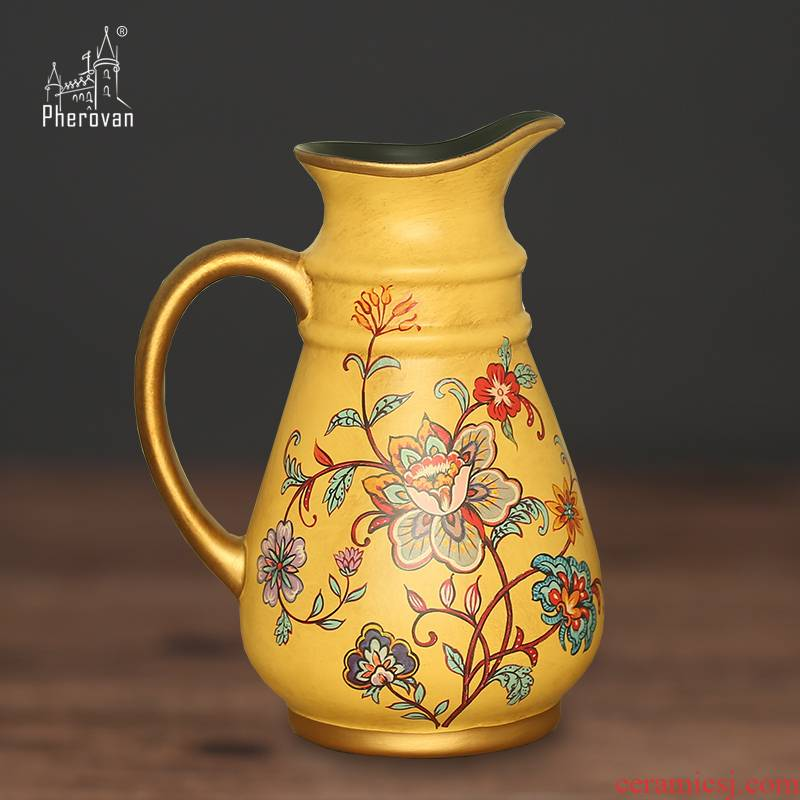 Europe type restoring ancient ways is made ceramic vases, flower arranging dried flower vase furnishing articles, the sitting room, dining - room household act the role ofing is tasted housewarming gifts