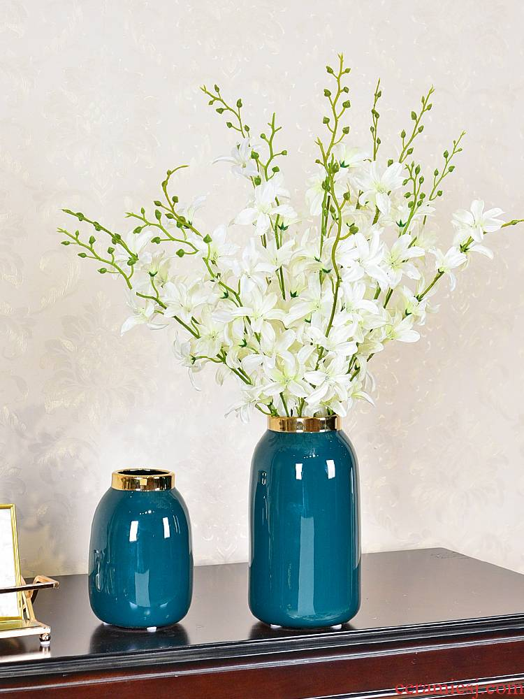 Jane 's light and decoration ceramics hydroponic vase I sitting room porch decorate table furnishing articles household act the role ofing is tasted simulation flower arrangement