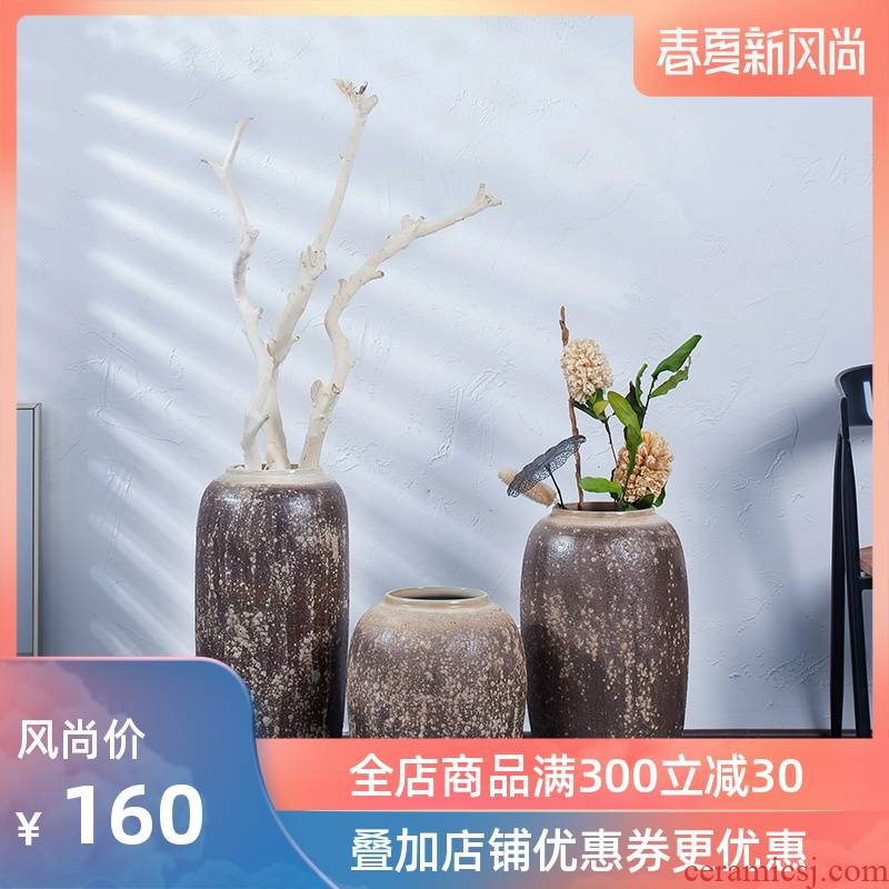 The vase study of I and contracted sitting room adornment ceramic vase landing, TV ark, home decoration flower arranging furnishing articles