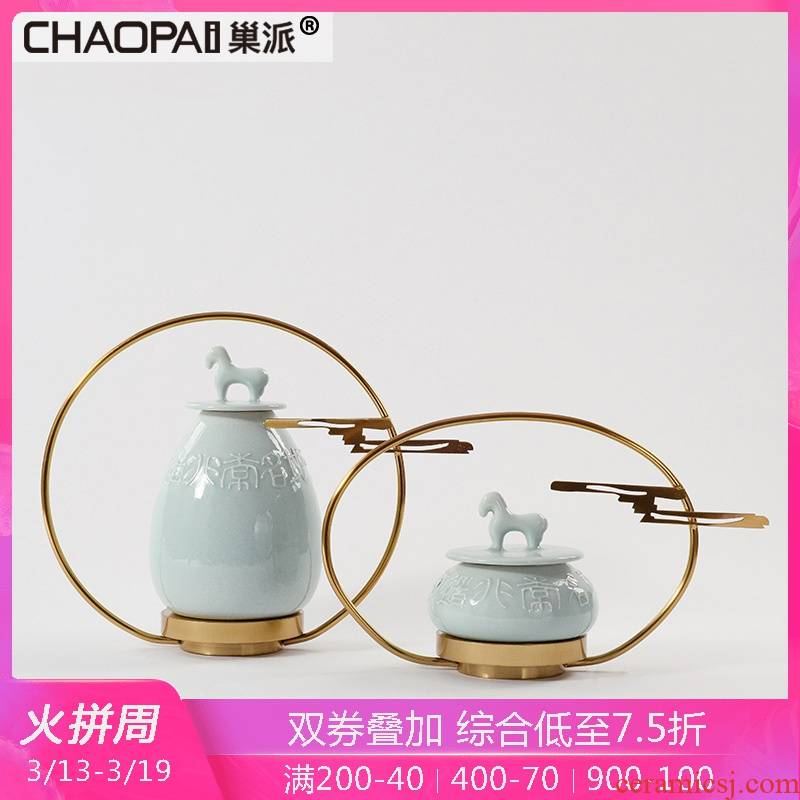 New Chinese style classical town curtilage zen furnishing articles porch ark of edge creative ceramics decoration stores hall soft decoration