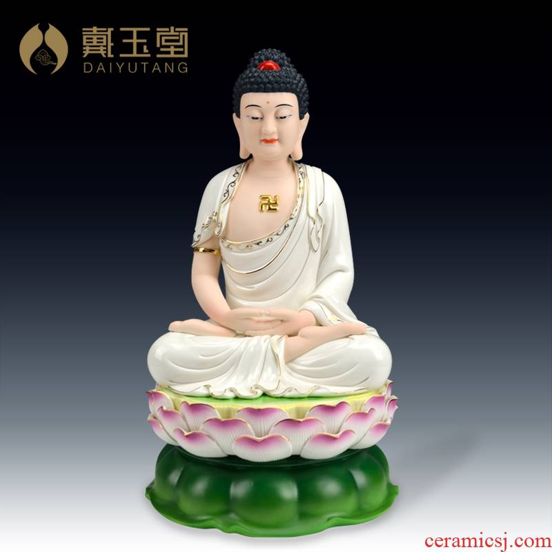 Blue and white household ceramic Buddha had the Buddha amitabha yutang dai home furnishing articles tathagata