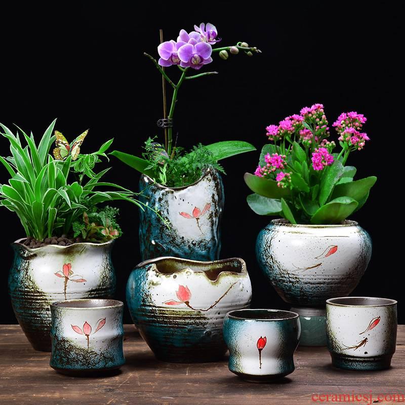 YOU color jade hand fleshy flowerpot ceramic creative desktop trumpet asparagus other potted meat meat the plants flower pot