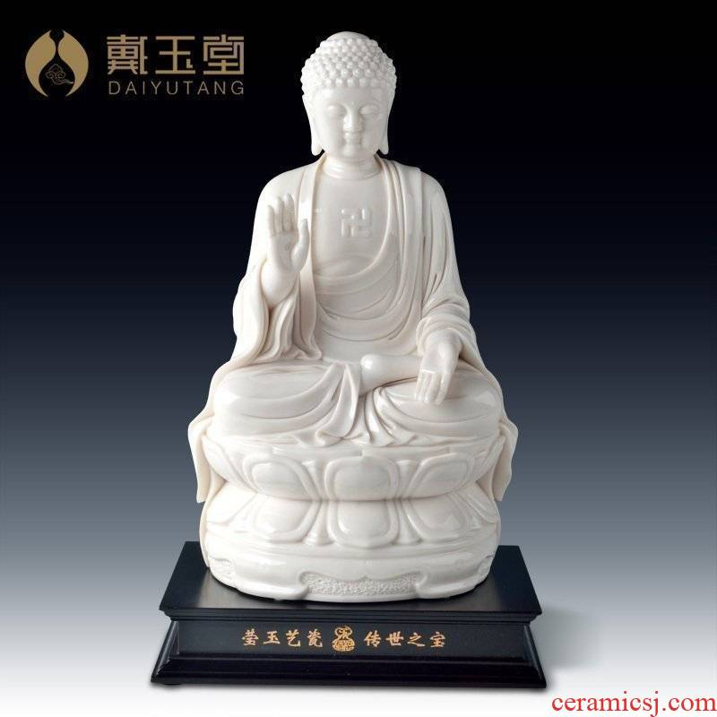 Yutang dai dehua white porcelain master Su Qinghe its art crafts collection/giant Buddha D29-09