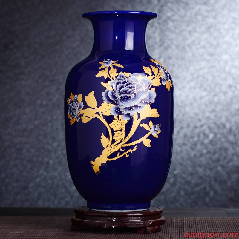 Jingdezhen ceramic vase furnishing articles, the sitting room is I and contracted wine decorate household act the role ofing is tasted vase arranging flowers furnishing articles