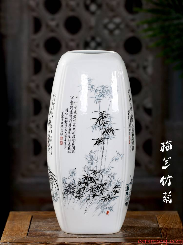 Jingdezhen ceramics flower home mesa of I sitting room adornment is placed by patterns Chinese wind vase