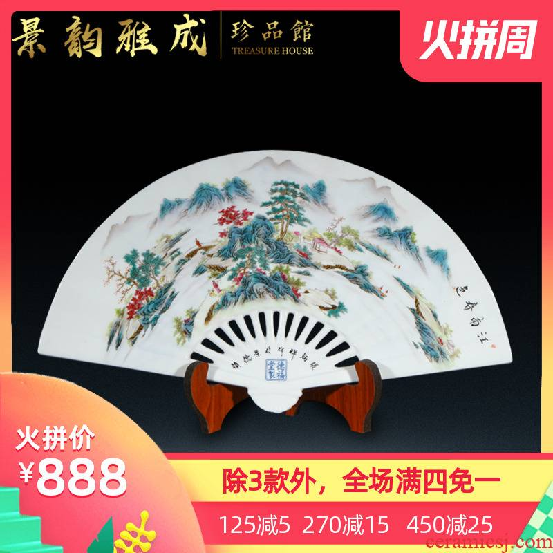 Jingdezhen ceramic hand - made place to live in the sitting room porch jiangnan spring decorations arts and crafts porcelain decoration