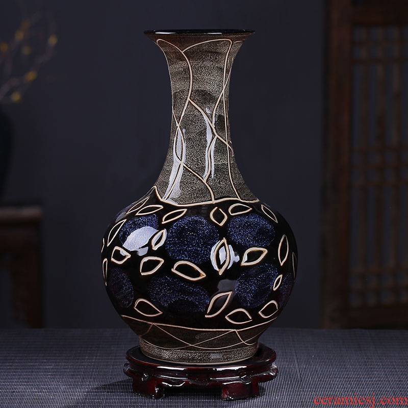 Jingdezhen ceramic vase archaize sitting room adornment rich ancient frame decorative furnishing articles furnishing articles of Chinese style household up with porcelain