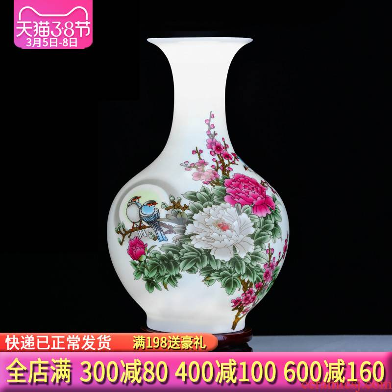 Jingdezhen ceramics floret bottle of flower arranging dried flowers of Chinese style household TV ark adornment handicraft furnishing articles sitting room