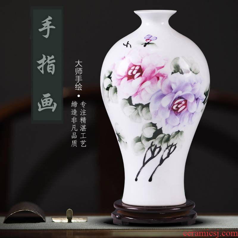 Manual hand - made porcelain jingdezhen ceramics vase son modern household TV ark adornment ornament household act the role ofing is tasted