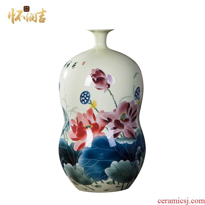 Hand - made jingdezhen ceramic vase ikea sitting room adornment creative decoration of Chinese style restoring ancient ways the gourd bottle home furnishing articles