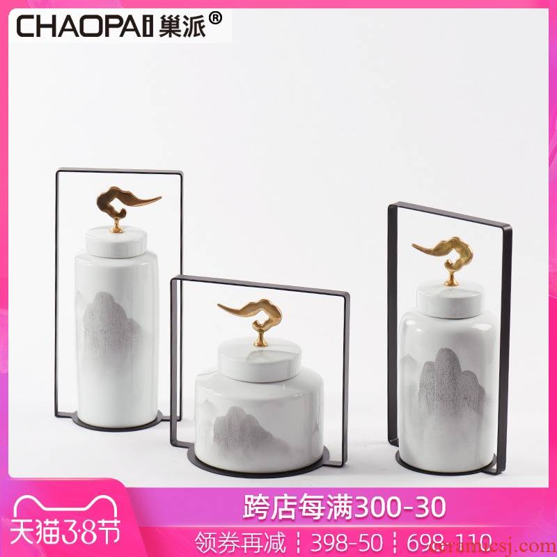 New Chinese style landscape contracted ceramic storage tank to the receive furnishing articles between example stores hall exhibition soft decoration