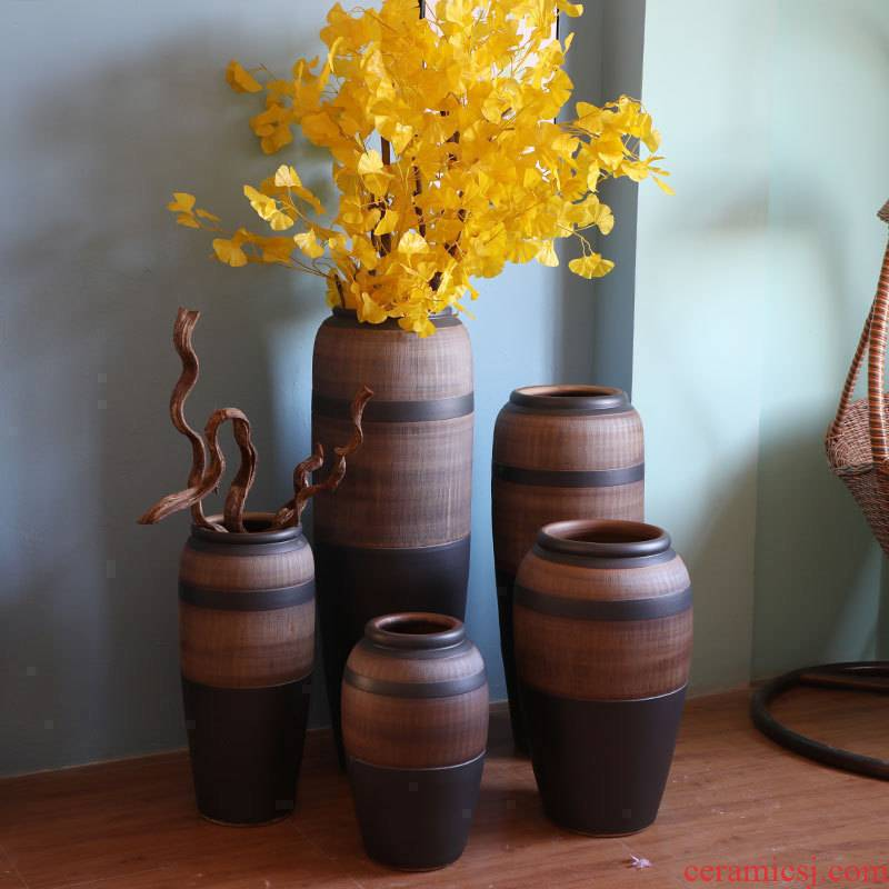 Jingdezhen do old vintage landing crude dry flower, flower implement some ceramic jar jar earthenware vase do old vase flowerpot