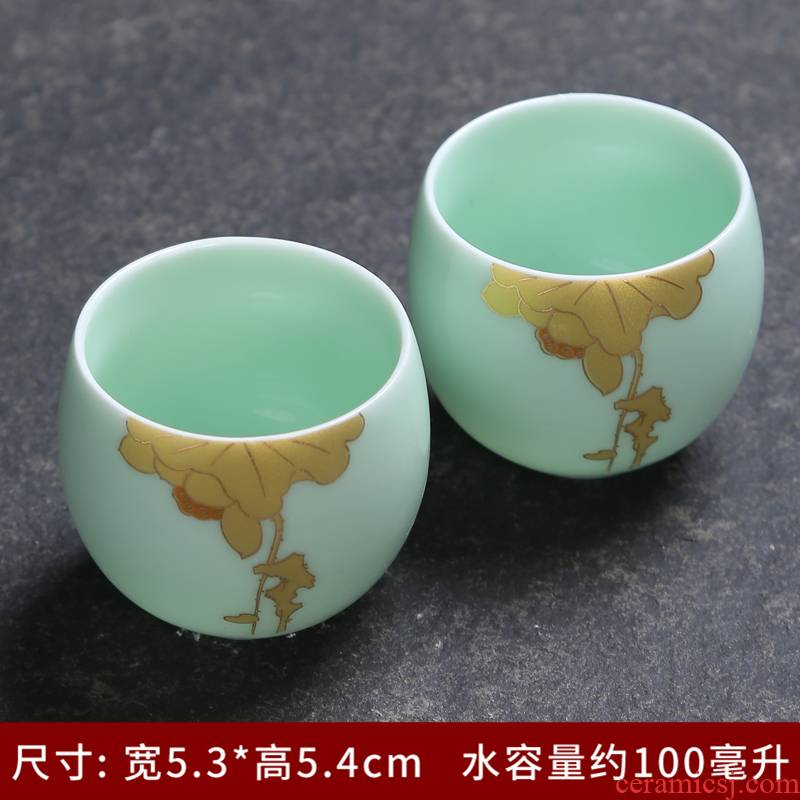 Silver cup 999 sterling Silver flower splendid blue and white porcelain teacup kung fu tea bowls manual bladder coppering. As Silver cup master list