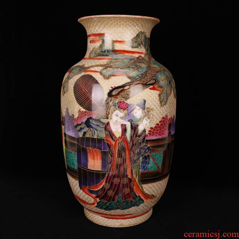 Jingdezhen imitation the qing qianlong see colour thread etched enamel had white gourd bottle of fine antique reproduction antique furnishing articles