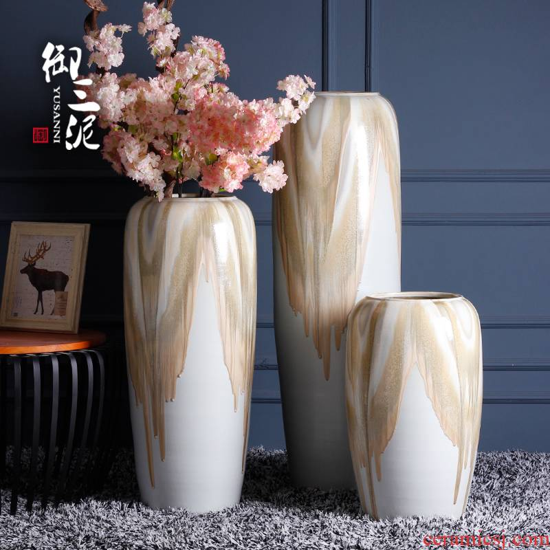 Chinese pottery and porcelain of large vases, I and contracted creative home furnishing articles garden decorative dried flowers decoration arranging flowers