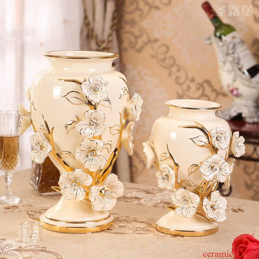 SAN road fort European ceramic vase vase furnishing articles furnishing articles sitting room adornment flower vase creative dry flower vase