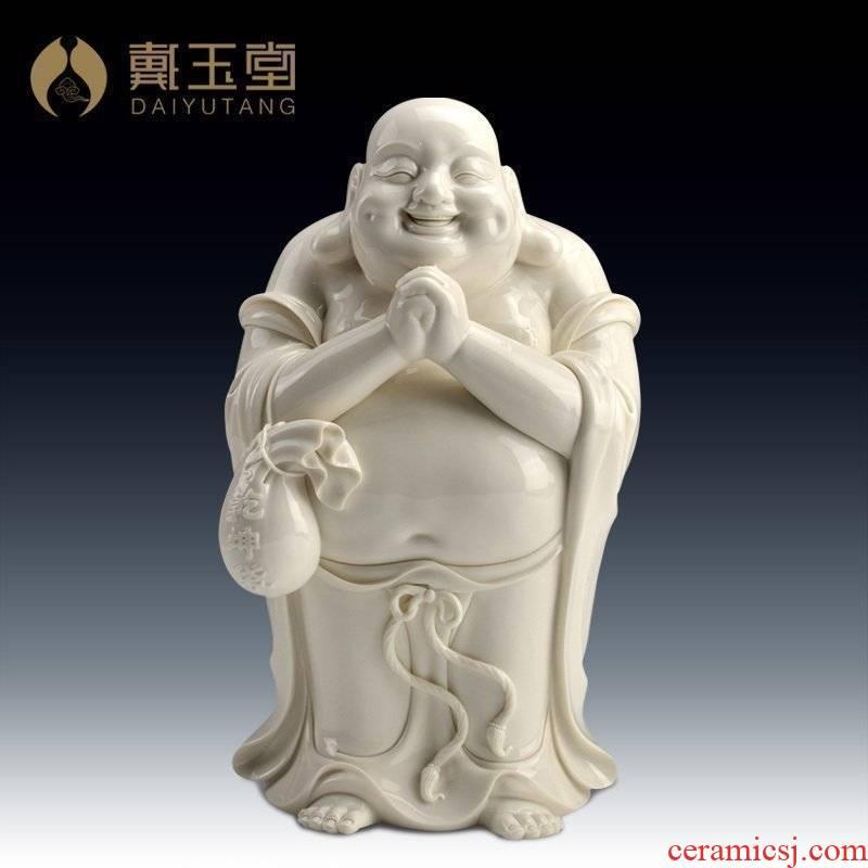 Yutang dai maitreya furnishing articles dehua white porcelain ceramic its art/12 inches congratulation D26-16