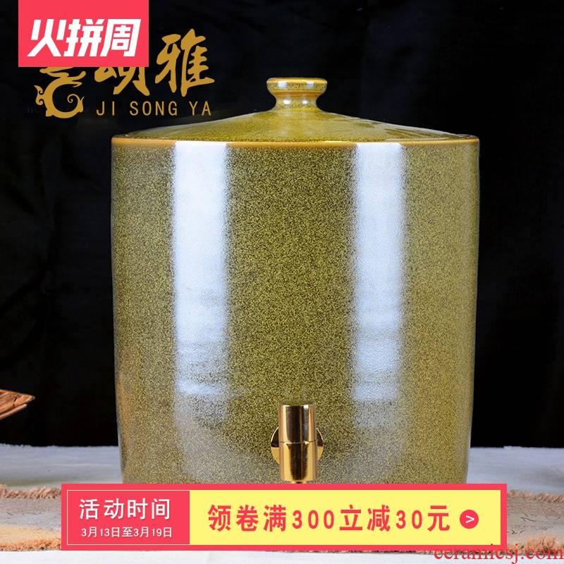 Jingdezhen ceramic jars jar at the end of the big water jar tea urn cool tea kettle with leading 20 to 50 pounds