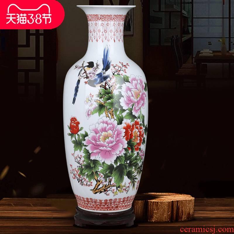 Jingdezhen ceramics lucky bamboo study restoring ancient ways of large vase furnishing articles sitting room TV ark, ikebana arts and crafts