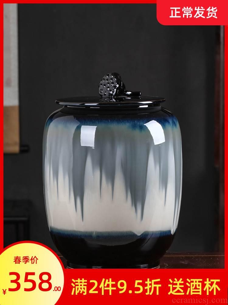 Jingdezhen ceramic large tea pot with cover household seal pot of tea cake pu 'er tea urn awake tea POTS