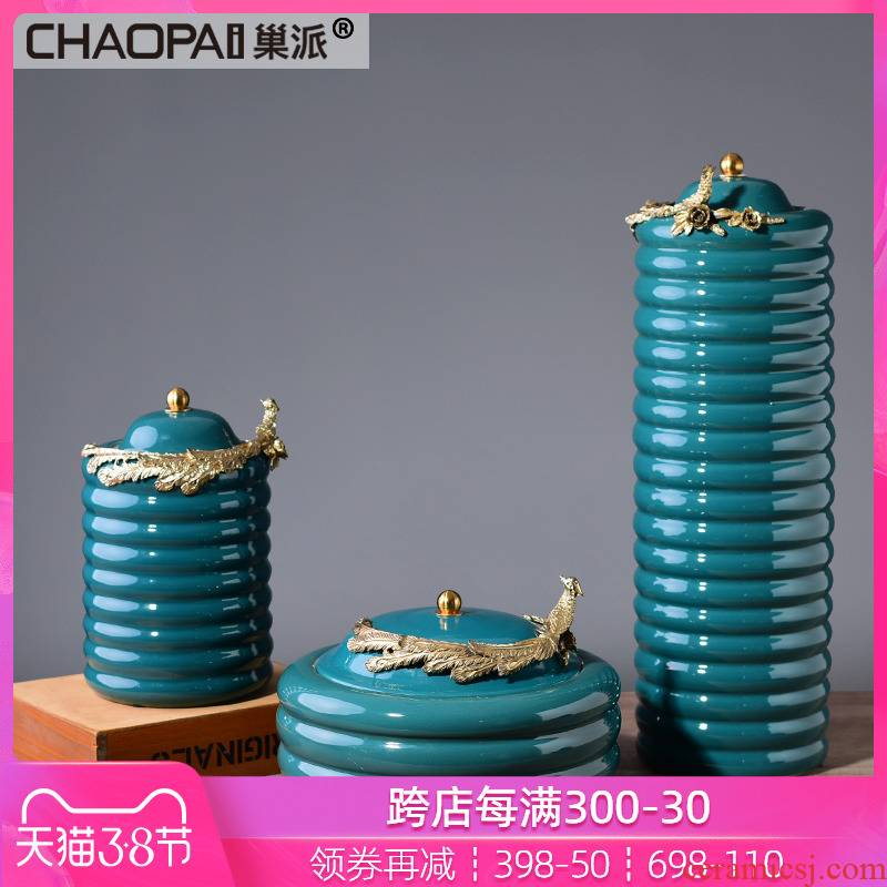 American ceramic receive a storage jar wine household act the role ofing is tasted furnishing articles, the sitting room porch soft outfit retro decoration process