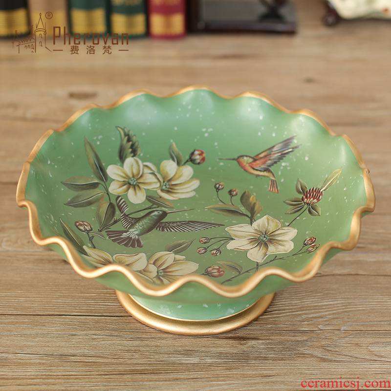 American pastoral made ceramic compote creative candy dishes Europe type restoring ancient ways household act the role ofing is tasted great fruit bowl