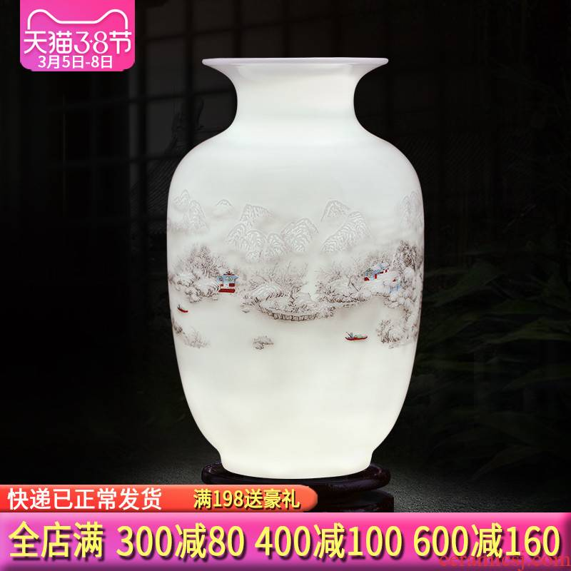Jingdezhen ceramics floret bottle furnishing articles dried flower arranging flowers sitting room ark, Chinese style home decoration arts and crafts