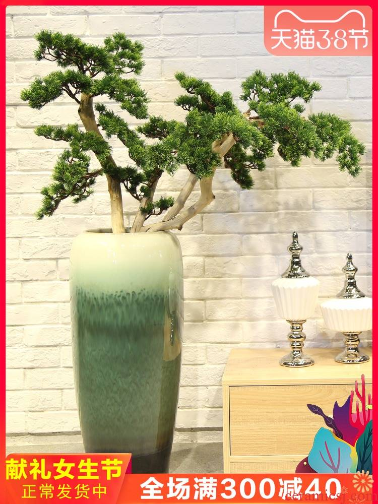 Jingdezhen ceramic creative living room villa large vase decoration to the hotel to place a flower flower implement restaurant furnishing articles