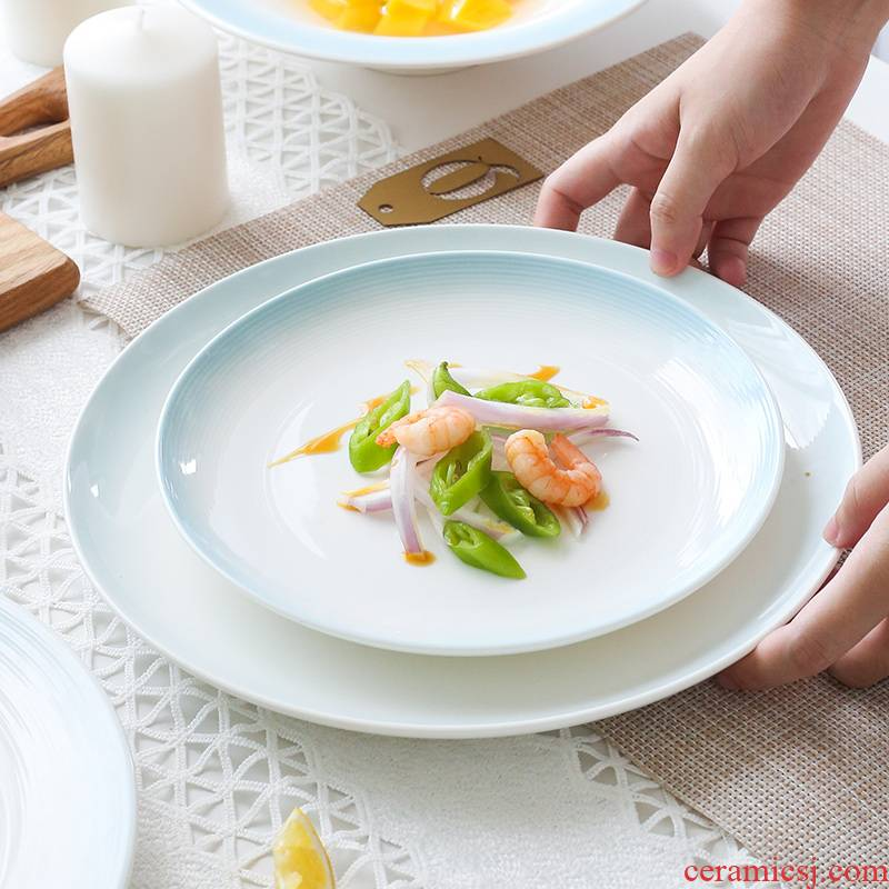 The Nordic tableware contracted creative rainbow such as bowl combined household jobs individual move ceramic bowl plate one