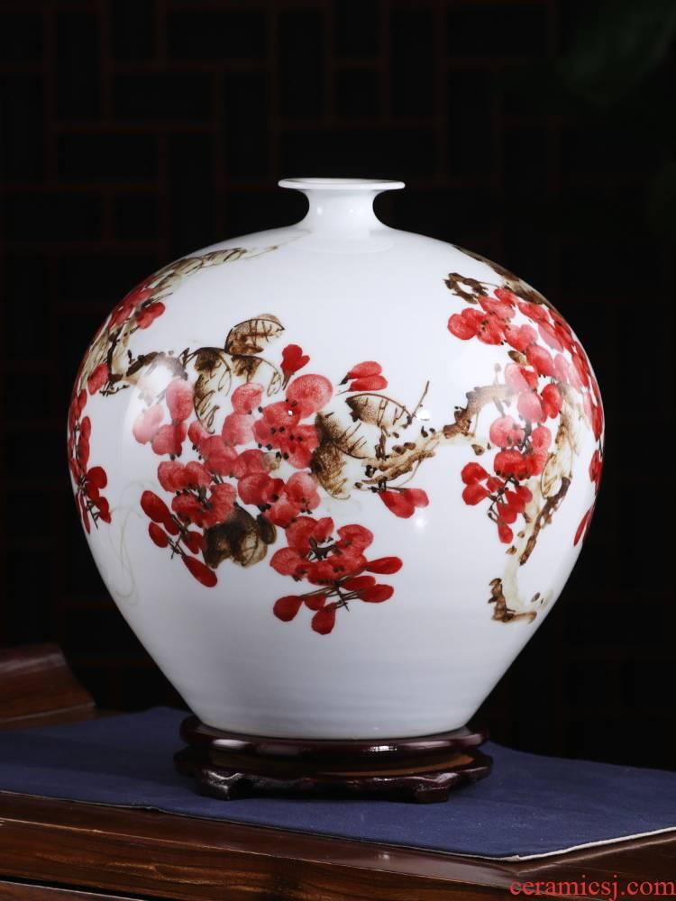 Jingdezhen ceramic vase furnishing articles by hand - made sabingga sukdun dergici jimbi vases, flower arranging the modern Chinese style living room decorations