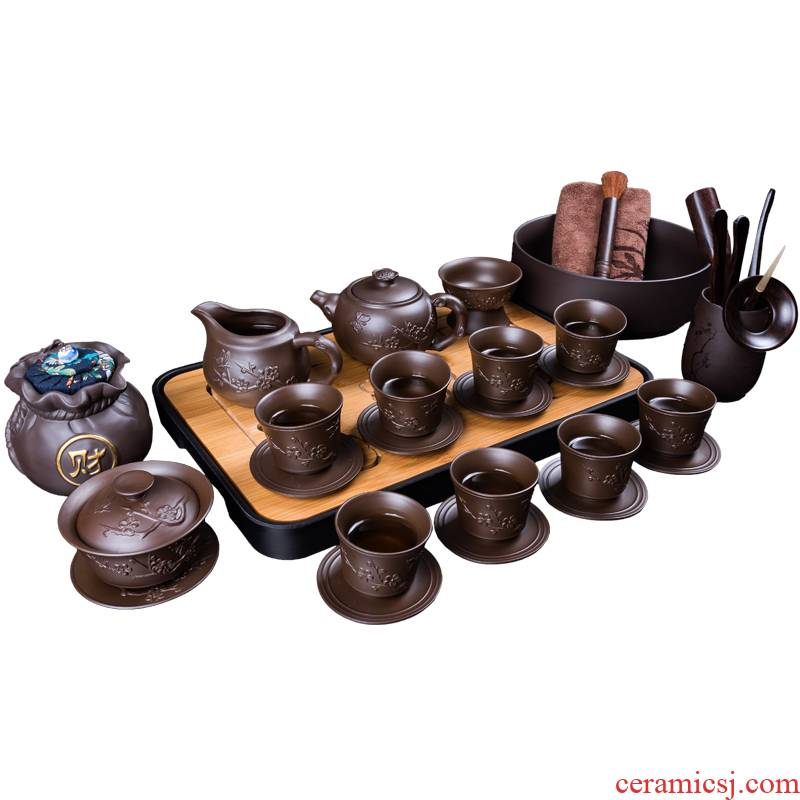It creative Chinese teapot tea set household contracted ceramic kung fu of a complete set of tea cups tureen