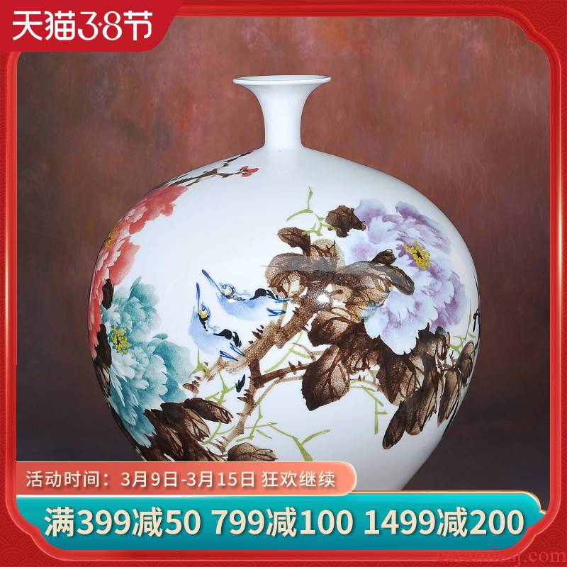Jingdezhen ceramics lrene riches and honour peace vases, flower receptacle I and contracted household crafts are sitting room