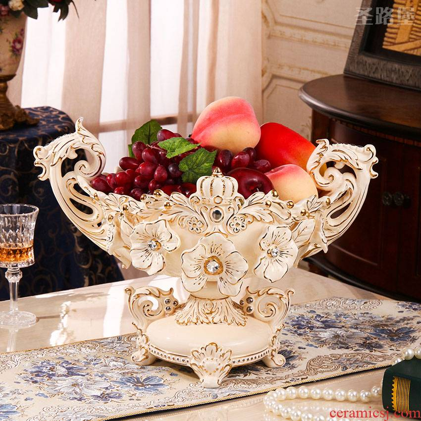Ou compote Nordic style household creative move fashionable sitting room ceramic small delicate web celebrity fruit bowl furnishing articles
