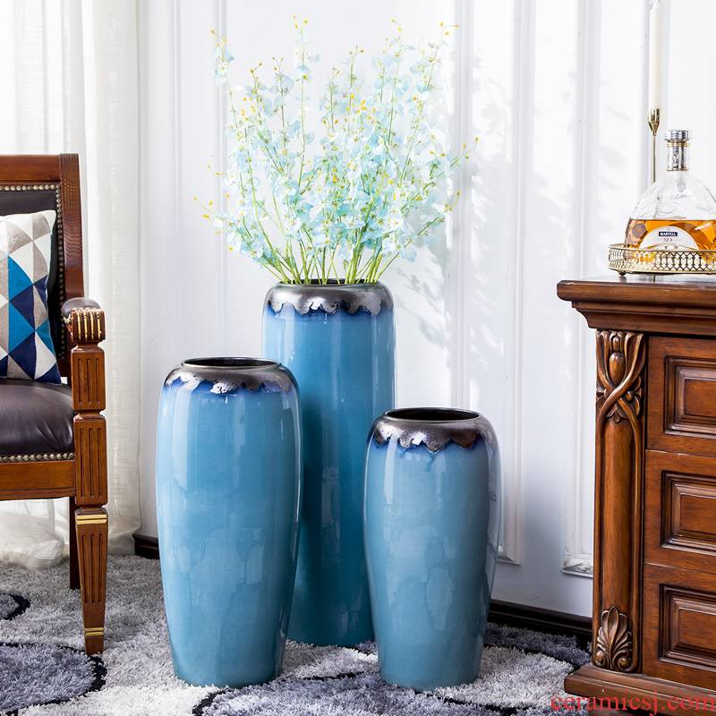 Jingdezhen ceramic of large vases, dried flower decoration furnishing articles sitting room of I and contracted high creative large bottle arranging flowers