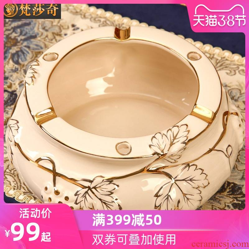 The Vatican Sally 's European ceramic ashtray individuality creative and practical home sitting room tea table decoration key-2 luxury furnishing articles