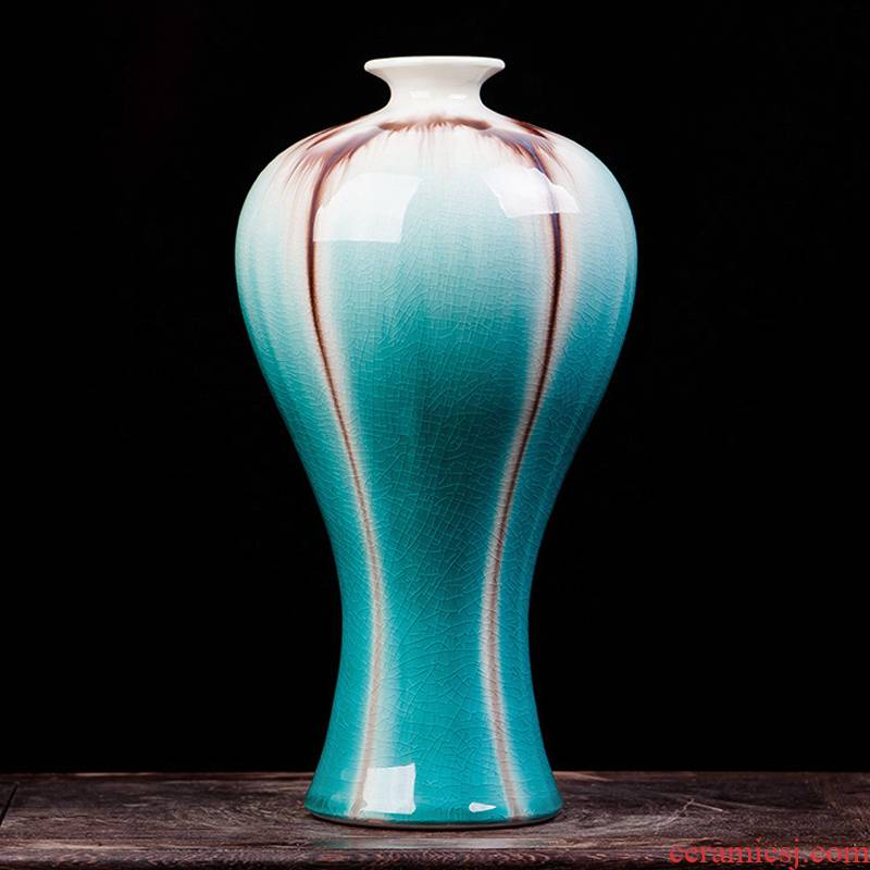 Jingdezhen ceramics glaze cracks on the vase fashion contracted sitting room porch place modern decoration arts and crafts