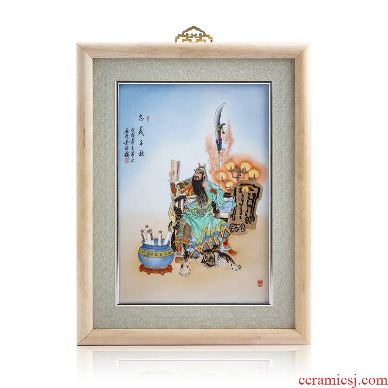 Jingdezhen ceramics Wang Jiale hand - made loyalty century new adornment see colour porcelain plate paintings hanging painting the living room is placed