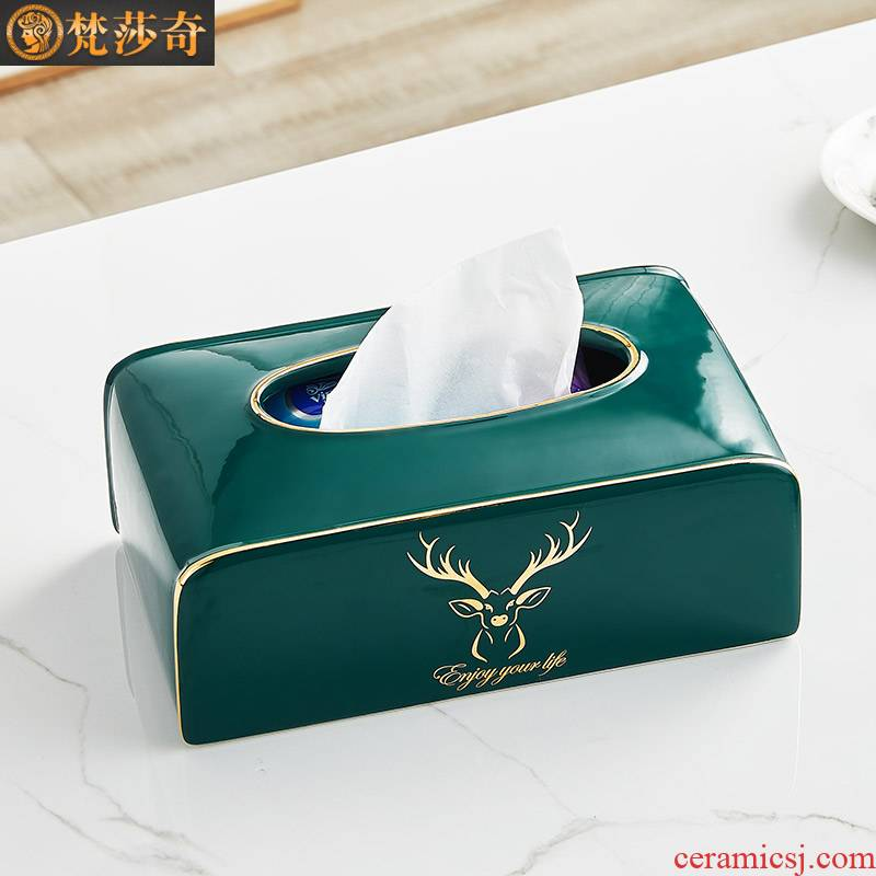Tissue boxes sitting room light key-2 luxury European American key-2 luxury ideas smoke box tea table napkin ceramic furnishing articles