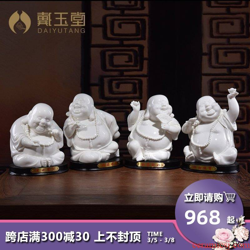 Yutang dai creative lovely ceramic primer maitreya buddhist in the sitting room D34-97 desktop furnishing articles/joy