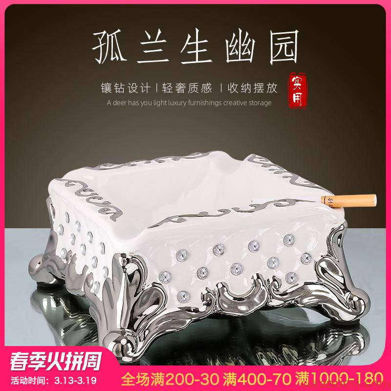 American creative ashtray sitting room tea table of household ceramics furnishing articles fashion square, great smoky bar office type cylinder