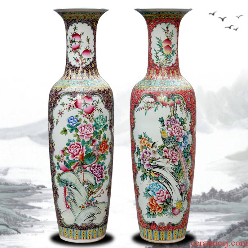 Jingdezhen ceramic vase of large sitting room the opened the feel study large China ornaments